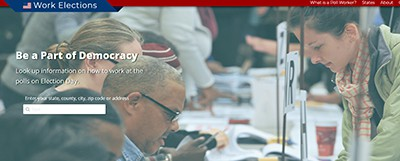 Work Elections website