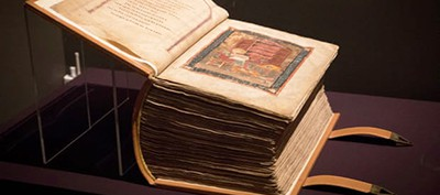 The Codex Amiatinus joins another work produced at Wearmouth-Jarrow Abbey during the same period, the St Cuthbert Gospel. Photo by Alicia Canter / The Guardian