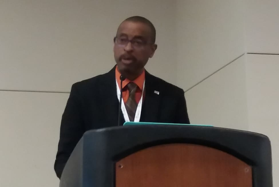 Poet, educator, and activist E. Ethelbert Miller delivers the Closing Session keynote at the third National Joint Conference of Librarians of Color in Albuquerque, New Mexico, on September 30.