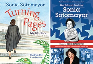 Covers of Turning Pages: My Life Story and The Beloved World of Sonia Sotomayor