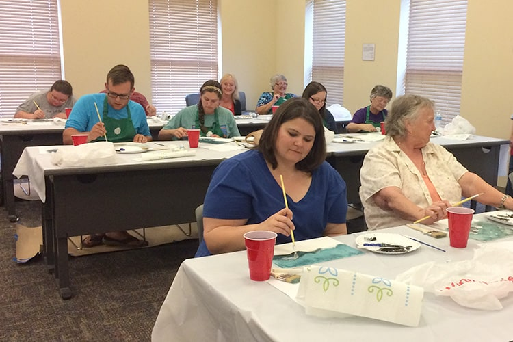 "The ""Paint Like Bob Ross"" program at Bay County Public Library in Panama City, Florida. Photo: Sarah Burris/Northwest Regional Library System"
