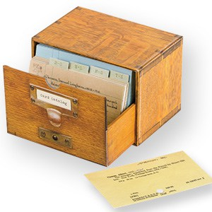 Card Catalog Notecards (Photo: Library of Congress)