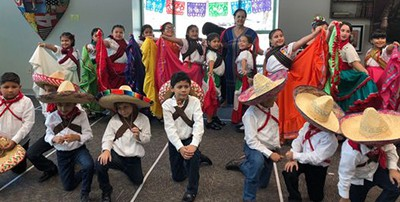Students from Cesar Chavez Elementary in Coachella perform at the La Quinta library in September. They were ordered to remove depictions of Mexican culture from the performance, which was all about Mexican Independence Day. Photo by Maria Hassan