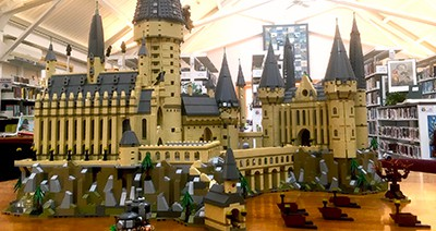 Lego Hogwarts Castle at Truro (Mass.) Public Library