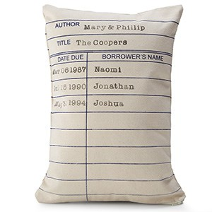 Personalized Library Card Pillow (Photo: Uncommon Goods)