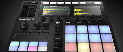 Maschine is a music controller that can be used to record and modify samples and mix and edit songs