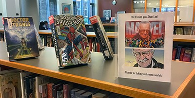Stan Lee tribute at Severinghaus Library, Haverford, Pennsylvania
