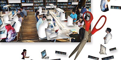 University program cuts affect libraries