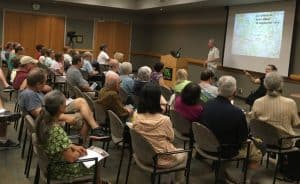 "Colonel (USAF ret.) Terrence Finnegan presents ""The Great War's Impact on Aviation: The Third Dimension Ascends"" at Sacramento (Calif.) Public Library's Central branch in 2016 as part of its World War I centennial programming."