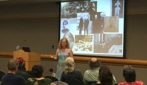 "In 2018, at Sacramento (Calif.) Public Library's Central branch, Sacramento State University Professor of History Mona Siegel presents ""The Men Who Made the Peace at Versailles, and the Women Who Tried to Set Them Straight."""