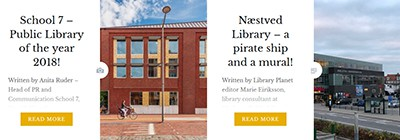 Two libraries featured on Library Planet