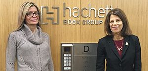 ALA President Loida Garcia-Febo and Past President Sari Feldman at the Hachette Book Group office