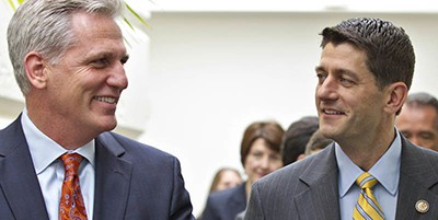 Kevin McCarthy and Paul Ryan