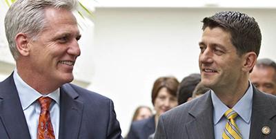 Kevin McCarthy and Paul Ryan