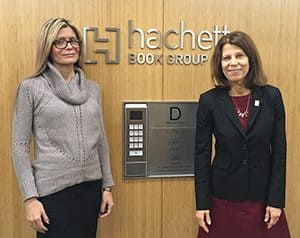 ALA President Loida Garcia-Febo and Past President Sari Feldman at the Hachette Book Group office.
