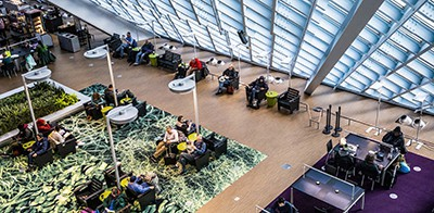 Inside of the Seattle Public Library on November 30. Photo by Dorothy Edwards / Crosscut