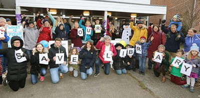 Protest against library closure, Wivenhoe, Essex
