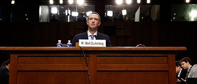 Mark Zuckerberg, Facebook's chief executive, at a Senate hearing in April. Internal Facebook records describe data-sharing deals that benefited more than 150 companies. Photo by Aaron P. Bernstein / Reuters