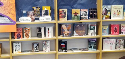 Book display for non-readers at Eastmoor Academy, Columbus, Ohio