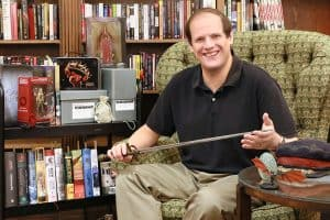 Jeremy Brett, curator of Texas A&M University's Cushing Memorial Library and Archives's Science Fiction and Fantasy Research Collection.