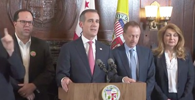 Mayor Eric Garcetti announces that L.A.'s teachers union and school district have reached a contract agreement