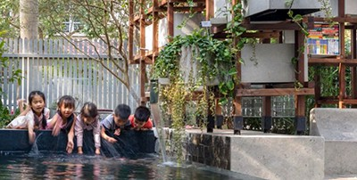 New Vietnamese library demonstrates aquaponics