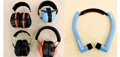 Noise-reducing headphones, kid and adult sizes