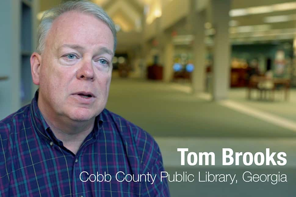Tom Brooks, Cobb County (Ga.) Public Library System. Screenshot from Advocacy Storytelling 101 video
