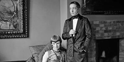 Lady Una Troubridge (left) and Radclyffe Hall in 1927