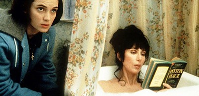 Winona Ryder and Cher (aka Mrs. Flax) reading Grace Metalious's Peyton Place in the all-time classic Mermaids (1990)