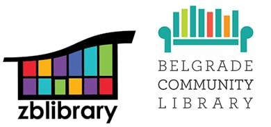 Logos of Zion-Benton (Ill.) Public Library and Belgrade (Mont.) Community Library