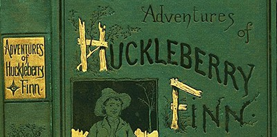 Cover of first edition of Huckleberry Finn