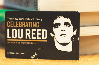 The New York Public Library is issuing 6,000 limited-edition library cards to celebrate the opening of the Lou Reed Archive.CreditCreditJonathan Blanc/The New York Public Library