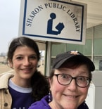 Karen Campbell (right) and fellow Peace Corps volunteer Elizabeth Mitchel  do the first leg of Campbell's Walk and Read Across Weakley in support of local libraries