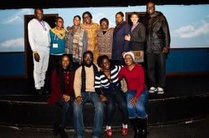 AfLAC members at The Second City in Chicago, back row, from left: Adonia Katungisa, Gertrude Kayaga Mulindwa, Victoria Isaacks, Nkem Osuigwe, Jacinta Were, Miriam Wangari Mureithi, Pranisha Parag, Guy Ebenezer Amarteifio. Front row, from left: Beatrice Ampadu, Bakary Sanyang, Barbra Apolot, Katrina Ndeshipanda Shikuni,