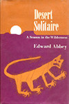 Cover of Desert Solitaire, by Edward Abbey (1968)