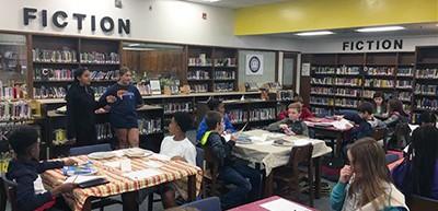 Horton Middle School library, Pittsboro, North Carolina