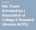 2019 Value of Academic Libraries Travel Scholarships