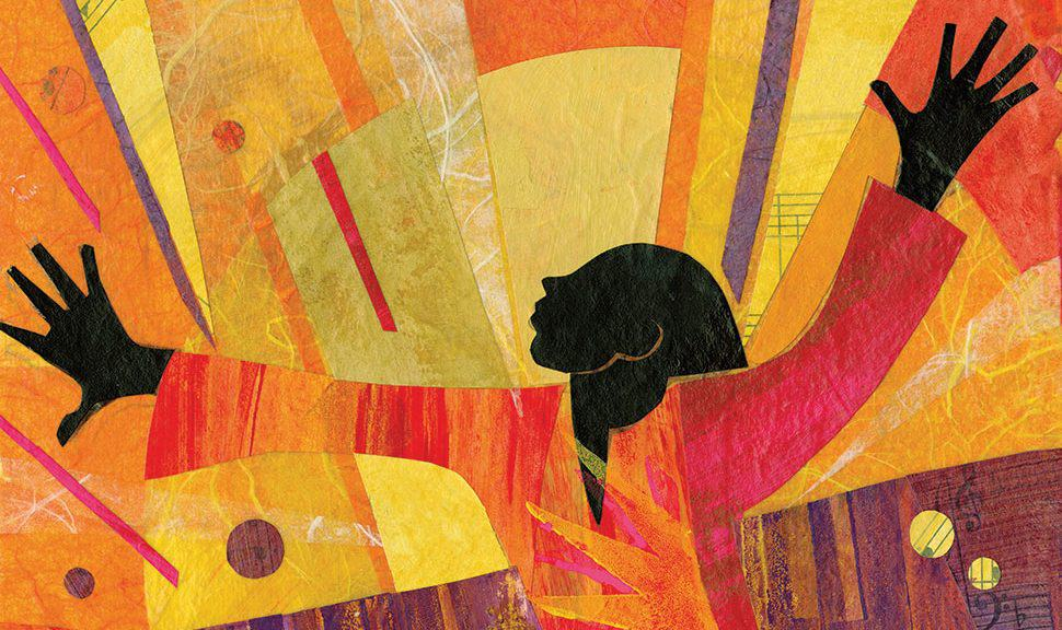 Illustration by Ekua Holmes, winner of the 2018 Coretta Scott King (CSK) Book Award for Out of Wonder: Poems Celebrating Poets.Reproduced by permission of the publisher, Candlewick Press, Somerville, Massachusetts