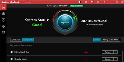 Iolo System Mechanic cleanup screen