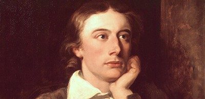 John Keats, looking thoughtful