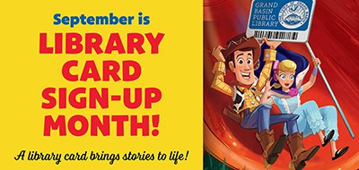 Library Card Sign-Up Month social media artwork