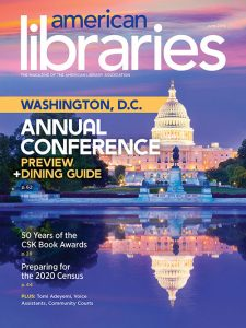American Libraries Magazine June 2019 cover