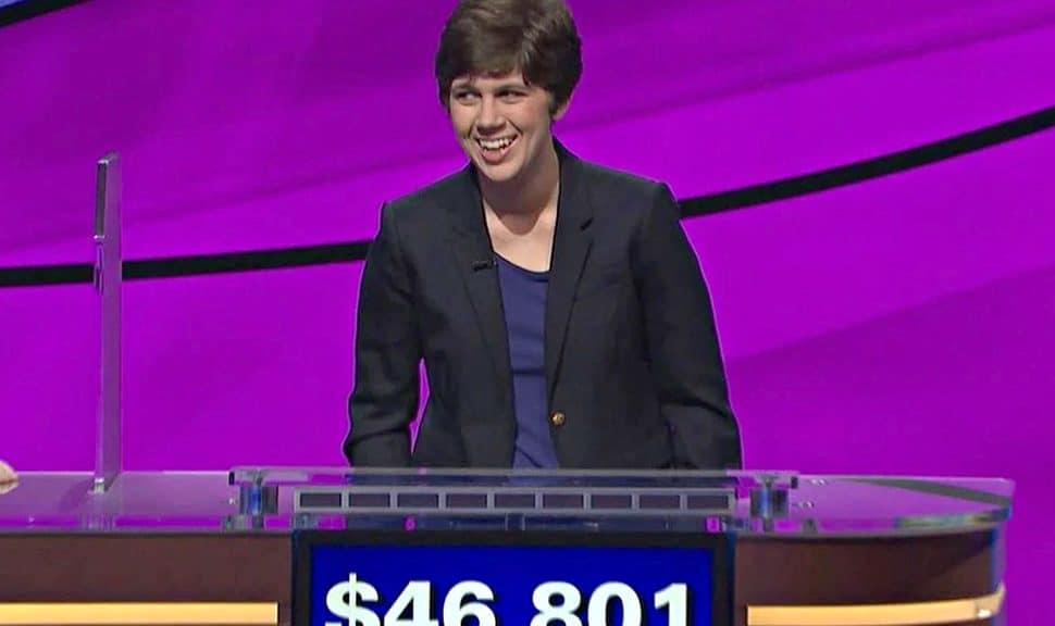 Emma Boettcher after her first Jeopardy! win on June 3.