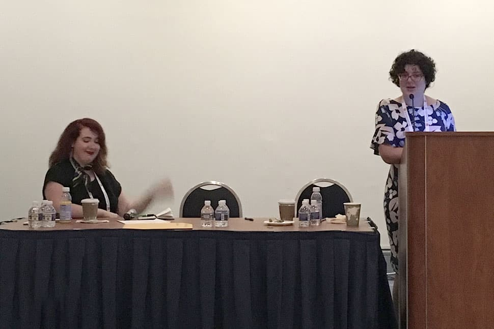 "Veteran Emerging Leaders Audrey Barbakoff (right) and Pauline Stacchini present ""Some Things to Keep in Mind: Lessons about Leadership"" at the ALA Annual Conference and Exhibitions June 22, 2019."