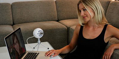 Recording with a Blue Snowball iCE microphone