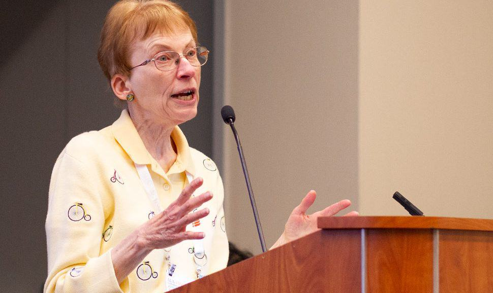 Former school librarian Helen Adams recalled the rise in surveillance technology in schools after the 1999 massacre at Columbine High School.