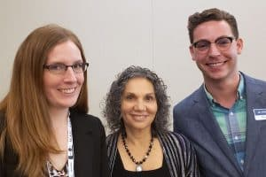 Left to right: OCLC's Cathy King, Lynn Silipigni Connaway, and Jay Holloway