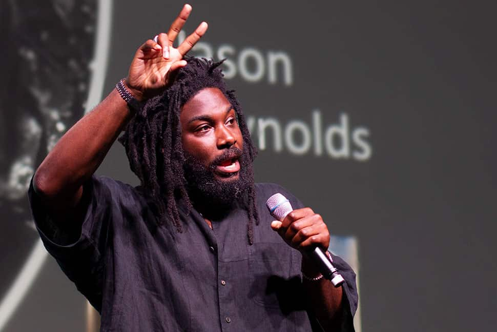 Jason Reynolds speaking at the Opening General Session of the 2019 ALA Annual Conference