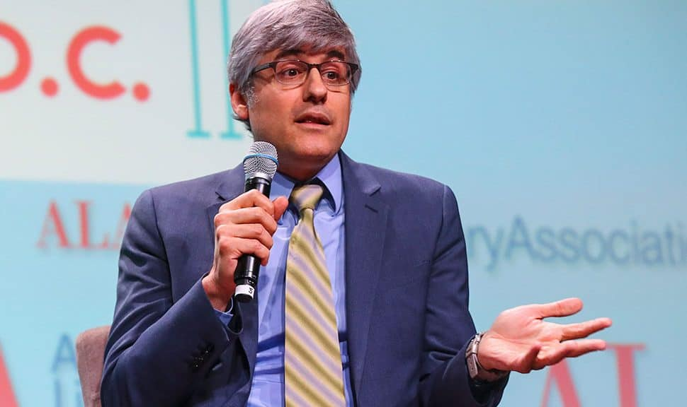 Journalist and author Mo Rocca speaks at the Closing Session at the ALA Annual Conference in Washington, D.C., on June 25.